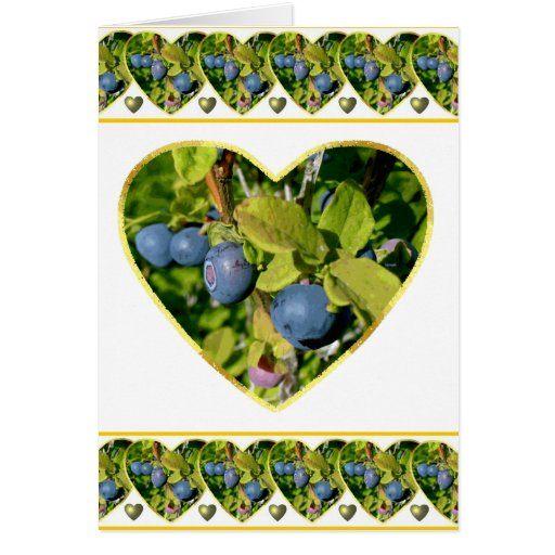 Blueberry Love Valentine Greeting Card