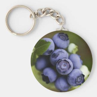 blueberry lover basic round button keychain