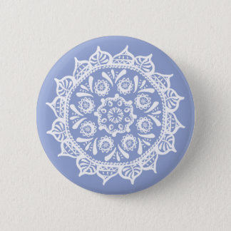 Blueberry Mandala Pinback Button
