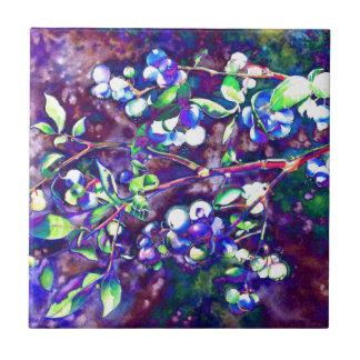 Blueberry - mauve hue small square tile
