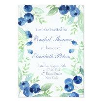 Blueberry Midsummer Rustic Wedding Bridal Shower Invitation