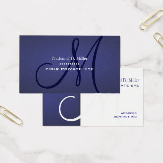 Blueberry Monogram Business Card