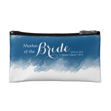 ericksondesigns Blueberry Mother of the Bride Cosmetic Bag