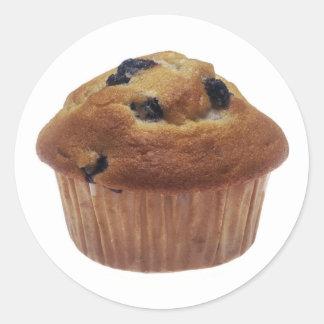 Blueberry Muffin Classic Round Sticker