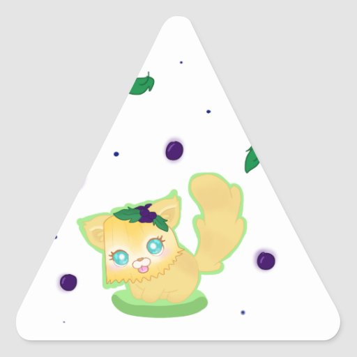 Blueberry Muffin Kitty Triangle Stickers