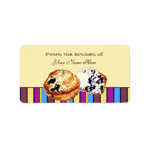 Blueberry Muffin Labels
