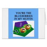 blueberry muffin lovers greeting card