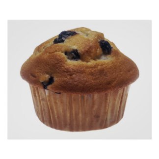 Blueberry Muffin Poster