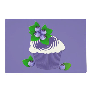 Blueberry Muffin Purple Placemat
