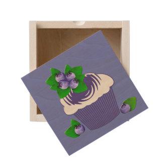 Blueberry Muffin Purple Wooden Keepsake Box