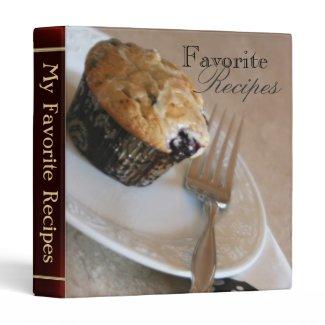 Blueberry Muffin Sweet Desert Recipe Binder