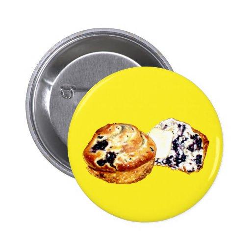 Blueberry Muffins 2 Inch Round Button