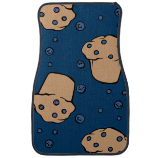Blueberry muffins car floor mat
