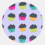 Blueberry Muffins Classic Round Sticker