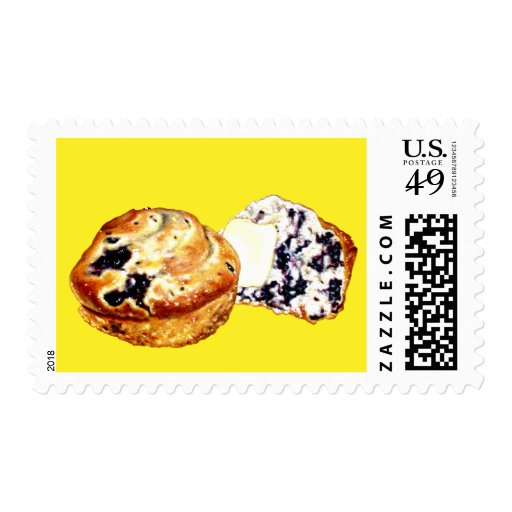 Blueberry Muffins Postage Stamps