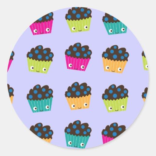 Blueberry Muffins Round Sticker