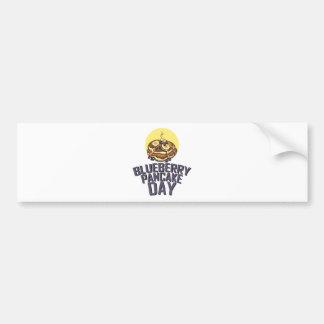 Blueberry Pancake Day - Appreciation Day Bumper Sticker