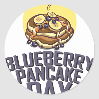 Blueberry Pancake Day - Appreciation Day Classic Round Sticker