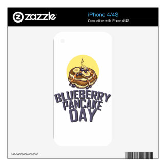 Blueberry Pancake Day - Appreciation Day Decal For iPhone 4