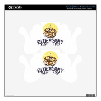 Blueberry Pancake Day - Appreciation Day PS3 Controller Decal