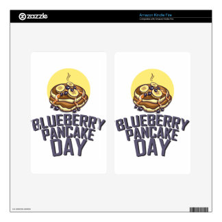 Blueberry Pancake Day - Appreciation Day Skin For Kindle Fire