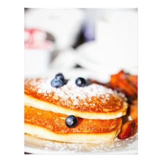 Blueberry pancakes flyer