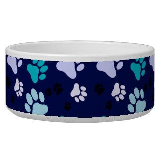 Blueberry Paw Print Bowl