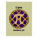 Blueberry pi postcard