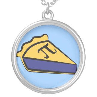 Blueberry Pi Round Pendant Necklace