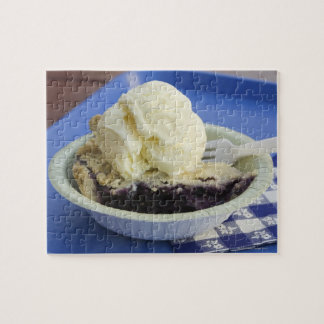 Blueberry pie a la mode jigsaw puzzle