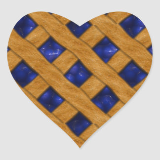 Blueberry Pie, Berry, Dessert, Bakery, Blueberry Heart Sticker