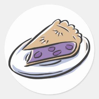 Blueberry Pie Classic Round Sticker