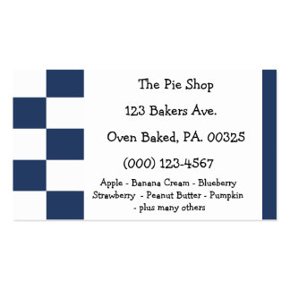 Blueberry Pie Colors Double-Sided Standard Business Cards (Pack Of 100)