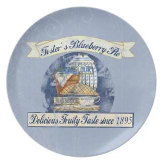 Blueberry Pie Dinner Plates