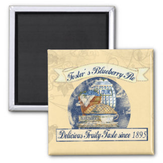 Blueberry Pie 2 Inch Square Magnet