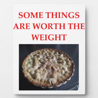 blueberry pie plaque