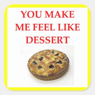 blueberry pie square sticker