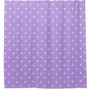 Blueberry Polka Dotsc Unisex Shower Curtain
