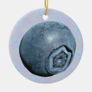 Blueberry Polka Dots Ceramic Ornament