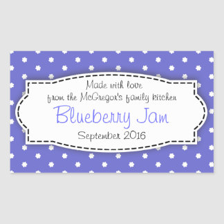 Blueberry preserve jam blue food label sticker