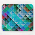 "Blueberry Quilty Mouse Pad<br><div class=""desc"">Colorful textured geometric design.</div>"