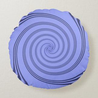Blueberry Salt Water Taffy Cotton Pillow by Janz Round Pillow