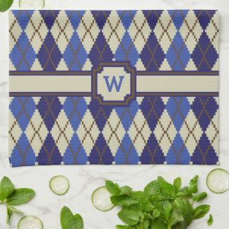 Blueberry Scone Argyle Kitchen Towel
