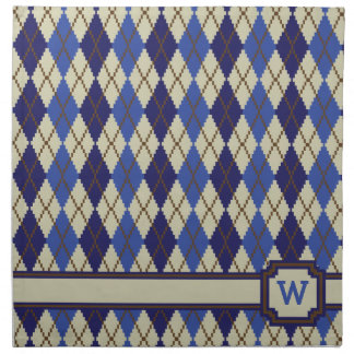 Blueberry Scone Argyle Napkin