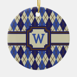 Blueberry Scone Argyle Ornament