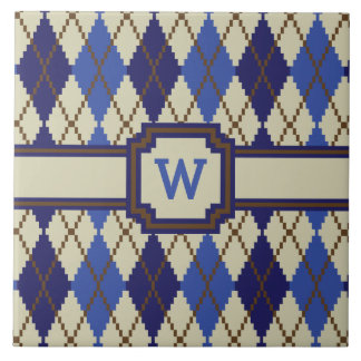Blueberry Scone Argyle Tile