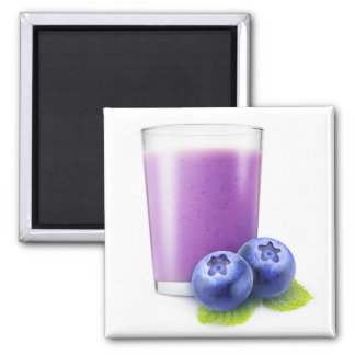 Blueberry shake 2 inch square magnet