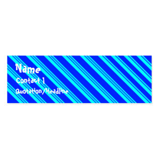 Blueberry Skinny Double-Sided Mini Business Cards (Pack Of 20)