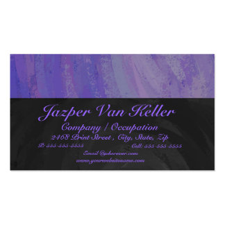 Blueberry Smear and Black Monogram Business Card