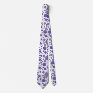Blueberry Smear Polka Dot Neck Tie